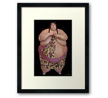 A WHOLE LOTTA MAN~WORLD'S LARGEST WAIST ~WALTER HUDSON Framed Print