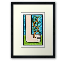 The nature of time Framed Print