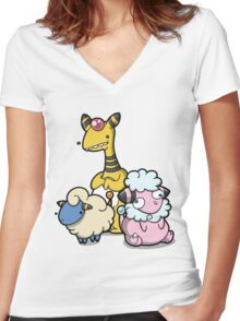 Electric sheep Women's Fitted V-Neck T-Shirt
