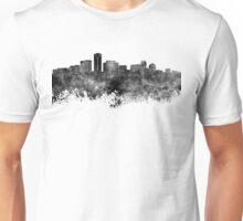 Long Beach skyline in black watercolor Unisex T-Shirt