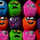 Cuddly soft toy faces by alan tunnicliffe