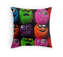 Cuddly soft toy faces Throw Pillow