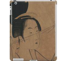 Sheer cloth - Utamaro Kitagawa - 1795 iPad Case/Skin