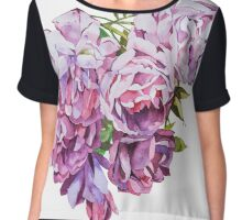 Watercolor flowers Roses. Chiffon Top