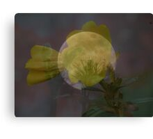 Layered Moon And Flower Canvas Print