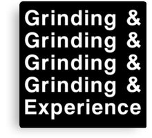 Grinding & Experience Canvas Print