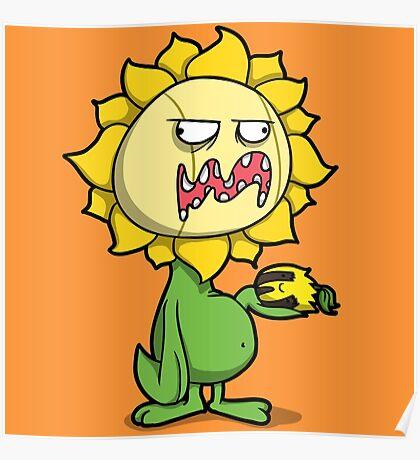 Grumpy Sunflower Poster