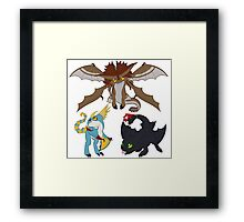 Chibi Dragons Framed Print
