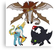 Chibi Dragons Canvas Print