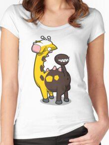 Giraffe Butt Women's Fitted Scoop T-Shirt