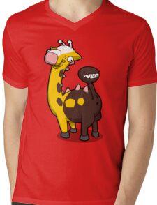 Giraffe Butt Mens V-Neck T-Shirt