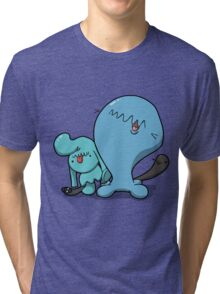 Wobba and little Wobba Tri-blend T-Shirt