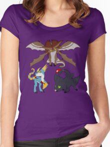 Chibi Dragons Women's Fitted Scoop T-Shirt