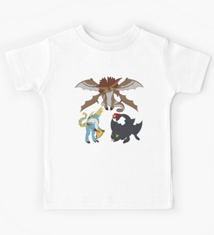 Chibi Dragons Kids Tee