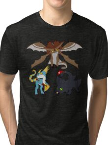 Chibi Dragons Tri-blend T-Shirt