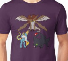 Chibi Dragons Unisex T-Shirt