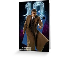Tenth Doctor - Greeting Card Greeting Card