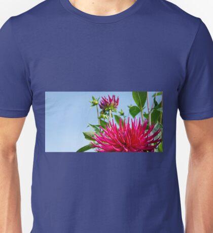 Spiky Pink Dahlia in the Sunshine Unisex T-Shirt