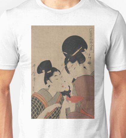Sake cup - Utamaro Kitagawa - 1801 Unisex T-Shirt