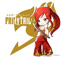 Cute Chibi of Erza Scarlet Photographic Print