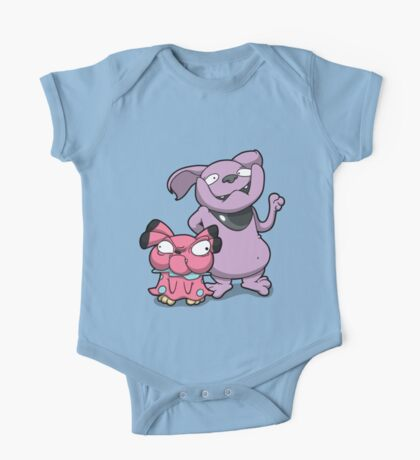 Cutey Bulldogs One Piece - Short Sleeve