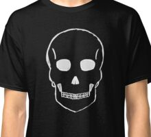 Large Skull Sketch (White Outline) Classic T-Shirt
