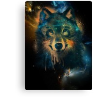 Galaxy Wolf Canvas Print