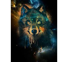Galaxy Wolf Photographic Print
