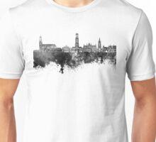 Bruges skyline in black watercolor Unisex T-Shirt