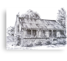 Hiscock's Cottage, Buninyong Victoria c1840.  Canvas Print