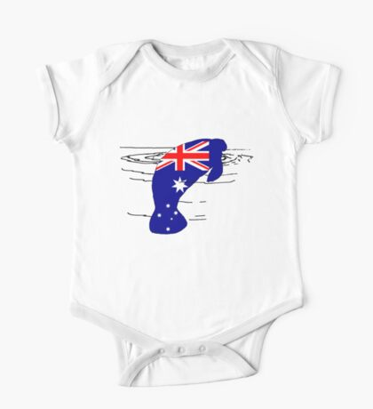 Australian Flag - Manatee One Piece - Short Sleeve