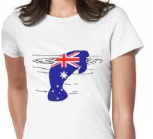 Australian Flag - Manatee Womens Fitted T-Shirt