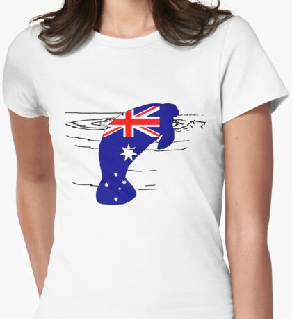 Australian Flag - Manatee Womens Fitted T-Shirt