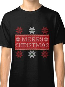 Christmas Wool Background Classic T-Shirt