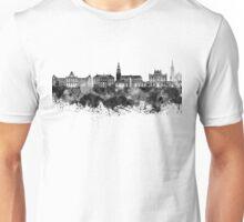 Groningen skyline in black watercolor Unisex T-Shirt