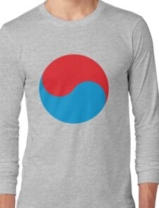 Duality in red and blue Long Sleeve T-Shirt