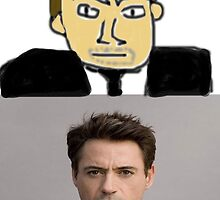 Robert Downey MSPaint by StubbornRadish