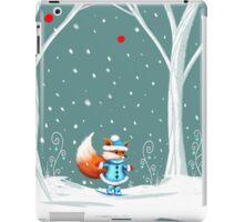 Little Miss Winter Fox in the Snow iPad Case/Skin