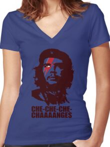 Che Changes Women's Fitted V-Neck T-Shirt