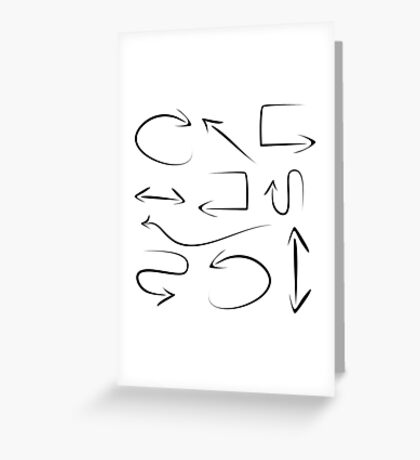 abstract arrows on white background,vector illustration Greeting Card