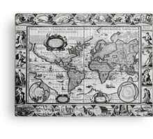Antique Maps of the World The Americas 1628 Canvas Print