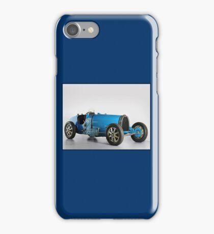 BUGATTI; Vintage Grand Prix Auto Racing Print iPhone Case/Skin