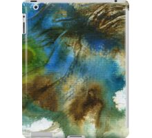 Blue, green and brown abstract iPad Case/Skin