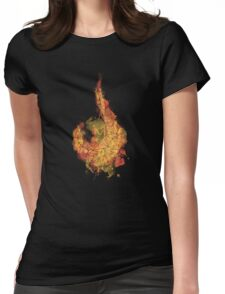 Polygon Ember Flame Womens Fitted T-Shirt