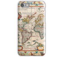 Antique Maps of the World The Americas 1628 iPhone Case/Skin