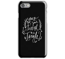 Don't get your tinsel in a tangle funny Christmas Saying iPhone Case/Skin