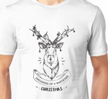 Dreaming of a whitetail Christmas - Funny Hunting Deer  Unisex T-Shirt