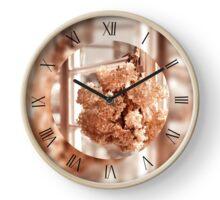Tethered hydrangea in sepia clock Clock