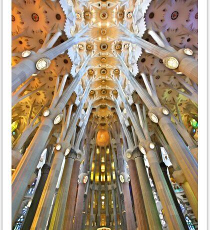 Inside the Sagrada Familia - Barcelona Sticker
