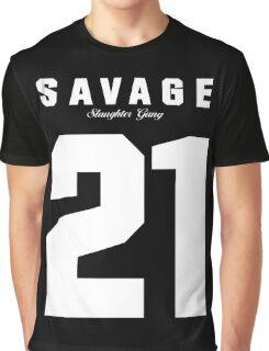 21 Savage Jersey Graphic T-Shirt